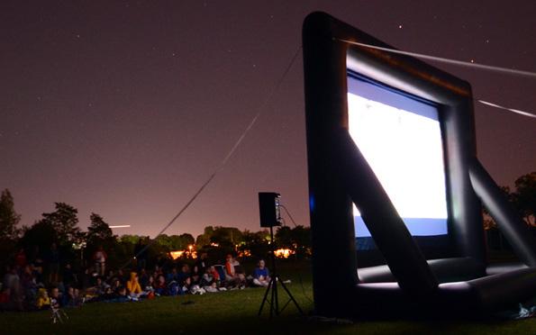 Ballpark outdoor cinema
